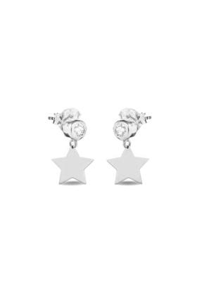Femmevien 925 Ayar Gümüş Basic Tektaşlı Yıldız Küpe 0