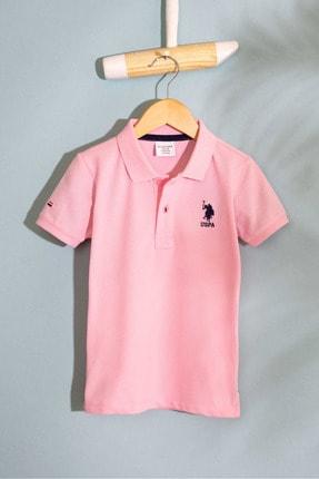 US Polo Assn Pembe Erkek Cocuk T-Shirt 0