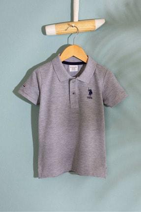 US Polo Assn Grı Erkek Cocuk T-Shirt 0