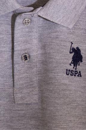 US Polo Assn Grı Erkek Cocuk T-Shirt 2