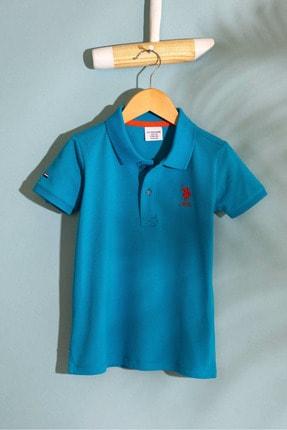 US Polo Assn Mavı Erkek Cocuk T-Shirt 0