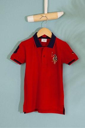 US Polo Assn Kirmizi Erkek Çocuk T-Shirt Basic 0