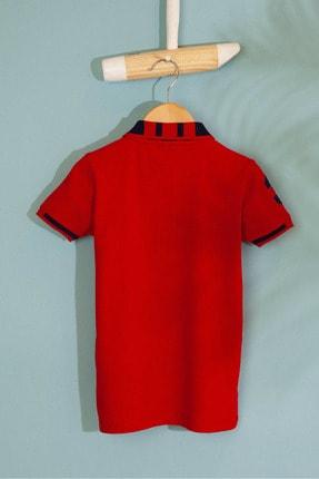 US Polo Assn Kirmizi Erkek Çocuk T-Shirt Basic 1