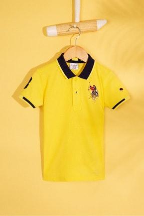 US Polo Assn Sarı Erkek Cocuk T-Shirt 0