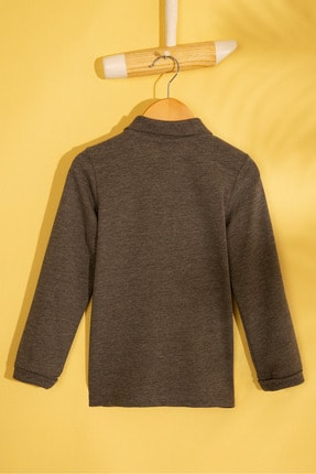US Polo Assn Gri Erkek Çocuk Sweatshirt 1