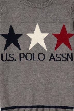 US Polo Assn Grı Erkek Çocuk Faust Triko Kazak 2
