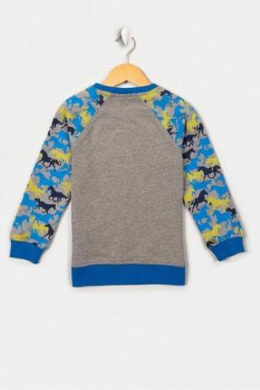 US Polo Assn Grı Melanj Erkek Cocuk Sweatshirt 1