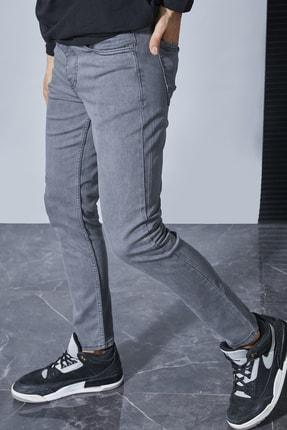 Sateen Men Erkek Koyu Gri Likrali Slimfit Jeans / Denim Pantolon Stn917Epa102 1