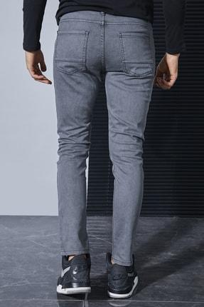 Sateen Men Erkek Koyu Gri Likrali Slimfit Jeans / Denim Pantolon Stn917Epa102 3