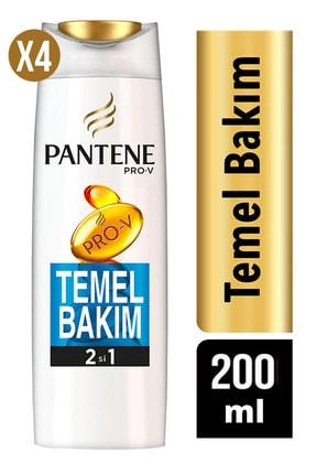 Pantene Şampuan Temel Bakım 2si1 Arada 200 Ml. 4 Lü Set 1
