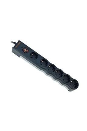 Tunçmatik Tsk6137 6lı 1050 J Siyah 1.5m Powersurge Akım Korumalı Priz 0