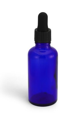Therapium Naturalis Damlalıklı Mavi Boş Cam Şişe 50 Cc 0