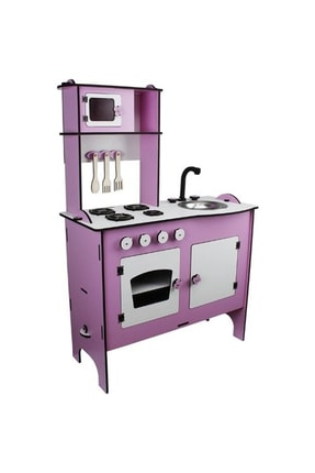 WoodyLife Ahşap Oyuncak Mutfak Seti Eğitici Montessori Oyuncak Mutfak Seti 4