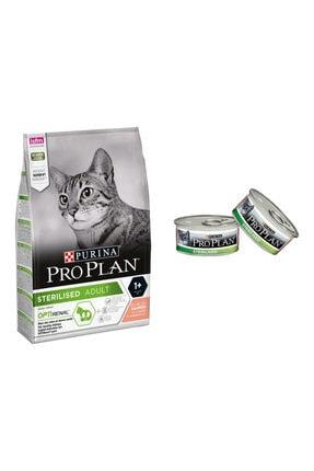 Proplan Pro Plan 3 Kg Sterılısed Somonlu Kedi Maması + 2 Adet Konserve 0