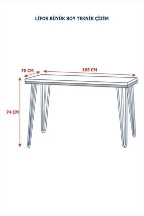 Vudi Design Lifos Büyük Boy Balkon Masası Mermer Desenli 6 Renk 2