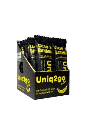 Uniq2go In Love - Kakaolu Ve Muzlu Protein Bar 12'li Kutu 0