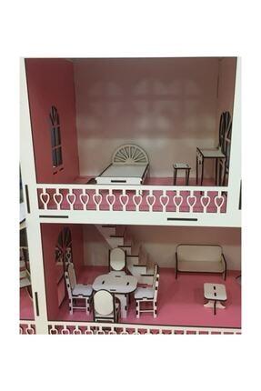 Ahşap Barbi Bebek Oyun Evi Tüm Eşyalar Dahil 1