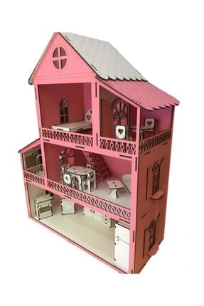 Ahşap Barbi Bebek Oyun Evi Tüm Eşyalar Dahil 2