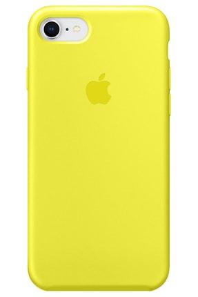 Cekuonline Iphone Se 2020 Logolu Lansman Kılıf Altı Kapalı Iç Kısmı Kadife - Sarı 0