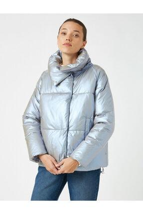 Koton Kadın Gri Düğmeli Oversize Mont 1