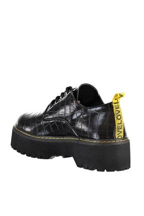 Soho Exclusive Siyah Kroko Kadın Casual Ayakkabı 15609 3