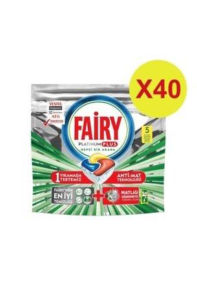 Fairy Platinum Plus Bulaşık Makinesi Tablet Deterjanı 5'lix40 200 Yıkama 0
