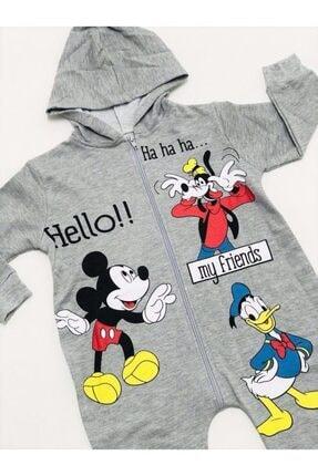 Pipetto Erkek Bebek Gri Tulum 1