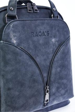 RAGA'S Kadın Siyah Omuz & Sırt Çantası - Günlük - Bölmeli - Nubuk 3