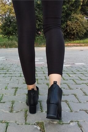 Aymood Kadın Siyah Lastikli Bot 1405 3