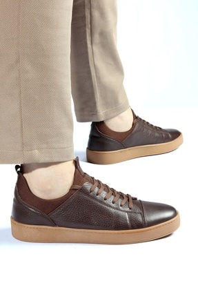 Alba Kahve Crep Hakiki Deri Erkek Ayakkabı 4