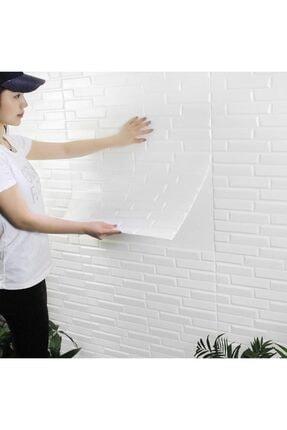 Renkli Duvarlar Nw55 Beyaz Opak Arkası Yapışkanlı Esnek Silinebilir Duvar Paneli 3
