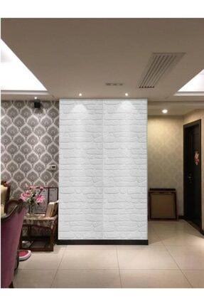Renkli Duvarlar Nw72 Beyaz Kayrak Taş Arkası Yapışkanlı Esnek Silinebilir Duvar Paneli 2