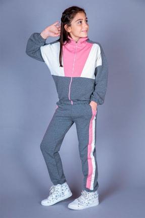 Toontoy Kız Çocuk Garnili Eşofman Takım 0