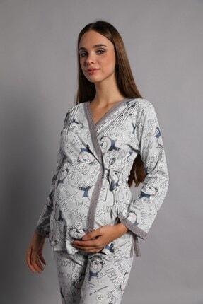 Lohusa Sepeti Kadın İndigo Noa Lohusa Pijama Takımı 0