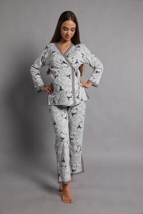 Lohusa Sepeti Kadın İndigo Noa Lohusa Pijama Takımı 3