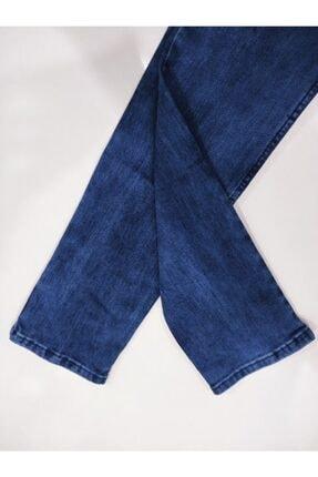 Denim Erkek Mavi Taşlamalı Kot Pantolon 3
