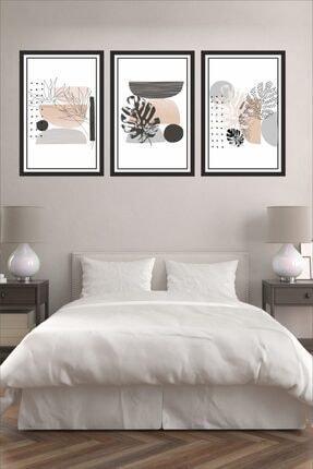 Dekor Sevgisi 3 Parça Çerçeve Görünümlü Siyah Gri Pembe Pvc Tablo Seti 30x20cm 3mm 0