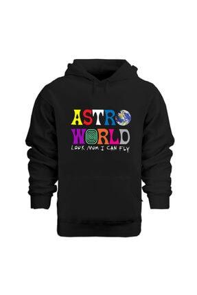 Rafftan Travis Scott Astroworld Baskılı Kapüşonlu Sweatshırt 0
