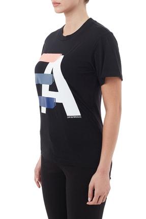 Emporio Armani Kadın Siyah Pamuklu Bisiklet Yaka T Shirt 6h2t7ı 2j07z 0999 2