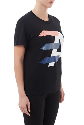 Emporio Armani Kadın Siyah Pamuklu Bisiklet Yaka T Shirt 6h2t7ı 2j07z 0999 3