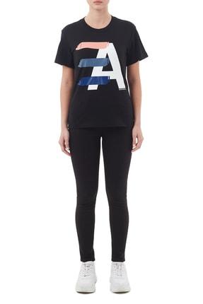 Emporio Armani Kadın Siyah Pamuklu Bisiklet Yaka T Shirt 6h2t7ı 2j07z 0999 4