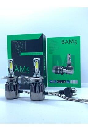 modifiyebudur Mach Bam5 Pro H4 Led Xenon Şimşek Etkili Beyaz - 6400 Lm 6000k 0
