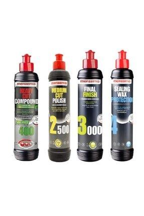 Menzerna Yeşil 400 2500 3000 Sealing Wax Boya Koruma Seti 250 Ml 0