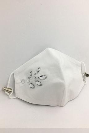 Vera Taşlı Beyaz Maske 1