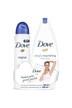 Dove Kadın Deodorant Sprey Original 150 Ml + Duş Jeli 250ml 0