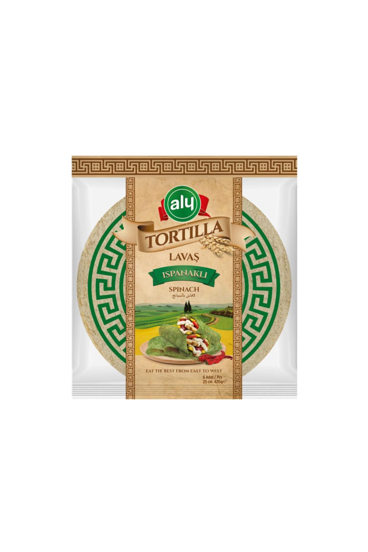 Ispanaklı Tortilla Lavaş 25 cm 6'lı Paket 420g