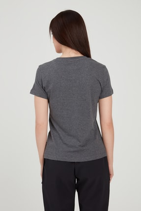 adidas W E LIN SLIM T Koyu Gri Kadın T-Shirt 100546435 0