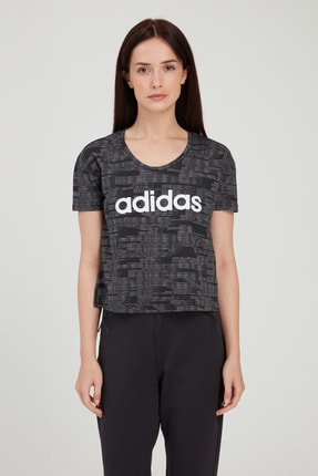 adidas Kadın T-Shirt -  W E Aop T  - FL0163 1