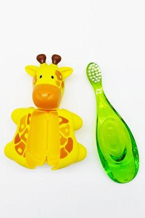 R.O.C.S. Zürafa Figürlü Baby 0-3 Yaş Diş Fırçası Ve Flipper Hijyenik Saklama Kabı Seti 0