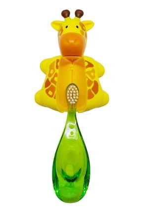 R.O.C.S. Zürafa Figürlü Baby 0-3 Yaş Diş Fırçası Ve Flipper Hijyenik Saklama Kabı Seti 2